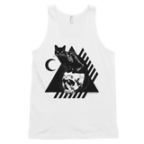 CAT MAGIC PUNKS Bastet Rising Unisex Tank Black/White/Grey