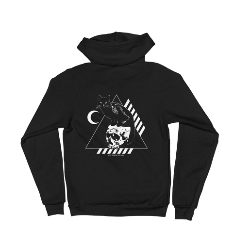 CAT MAGIC PUNKS Bastet Rising Zip-Up Hoodie