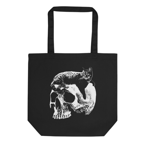 CAT MAGIC PUNKS Willie Skull Tote Bag