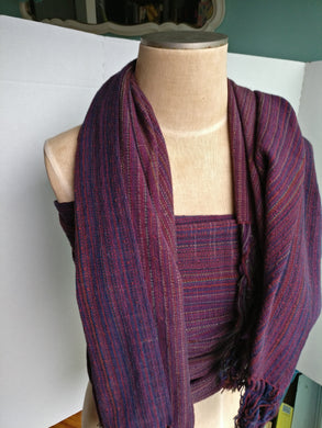 Handwoven shawl from Saturday Sun warp