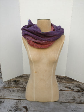 Handwoven murmurations tube cowl