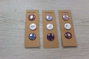 "1"" button pack"