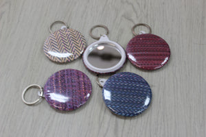 "2.25"" mirrored key rings"