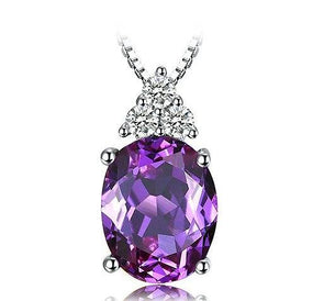 2.6ct Oval Simulated Alexandrite Sapphire