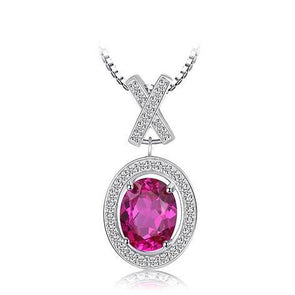 925 Sterling Silver Pink Pendant