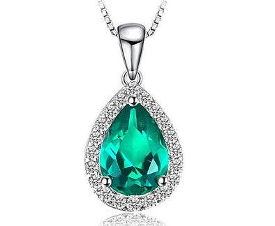 0.6ct Water Drop Simulated Emerald