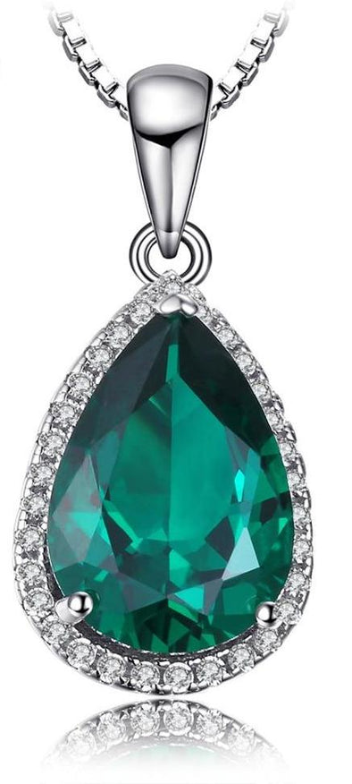 3.7ct Simulated Emerald Pendant