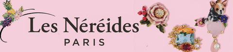 Les Nereides Paris logo and flower jewelry