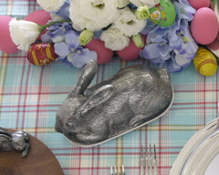 Bunny Pewter Butter Dish