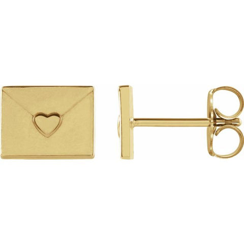 Valentines Day Gift 14k Gold Earrings