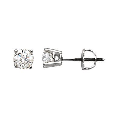 High Quality 14K White Gold Diamond Studs 1/4 CTW  (Threaded Post)