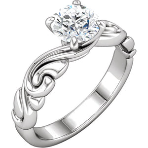 Stunning 1 CT Diamond Engagement Ring set in 10k White Gold by Parker Edmond - ParkerEdmond