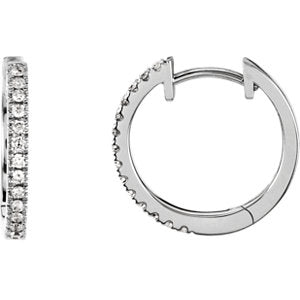 Diamond Hoop Earrings for Dangles - ParkerEdmond