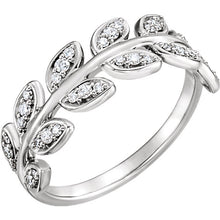 Load image into Gallery viewer, Elegant Diamond Leaf Ring by Parker Edmond - ParkerEdmond