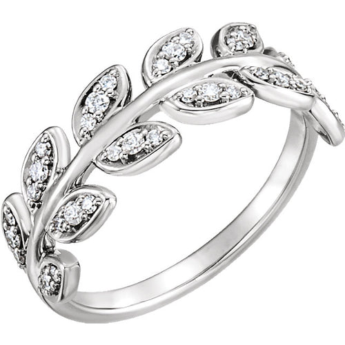 Elegant Diamond Leaf Ring by Parker Edmond - ParkerEdmond