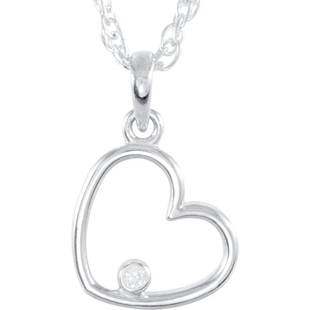 Sterling Silver Heart Shape Necklace by Parker Edmond