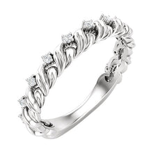 Load image into Gallery viewer, Put a Twist on Your Anniversary! Twisted Diamond Anniversary Band by Parker Edmond - ParkerEdmond