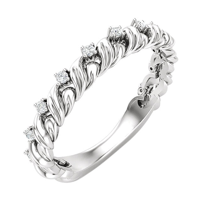 Put a Twist on Your Anniversary! Twisted Diamond Anniversary Band by Parker Edmond - ParkerEdmond