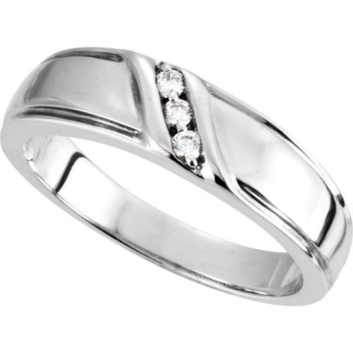 Sterling Silver 2.5 mm Round Men's Ring Mounting
