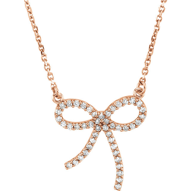 Diamond Bow Necklace by Parker Edmond - ParkerEdmond