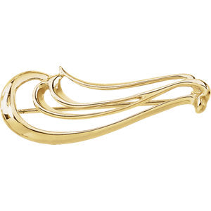 Fashion Forward Freedom Brooch in 14k Yellow Gold by Parker Edmond - ParkerEdmond