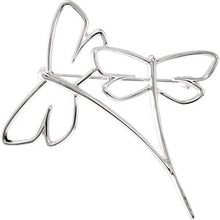 Load image into Gallery viewer, Dragonfly Brooch available in 14k White Gold and 18k Yellow Gold - ParkerEdmond
