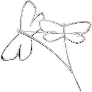 Dragonfly Brooch available in 14k White Gold and 18k Yellow Gold - ParkerEdmond