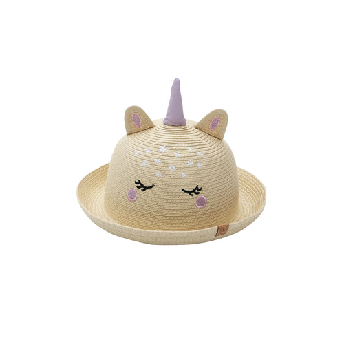 Kids Straw Hat Unicorn 2-4 yrs.