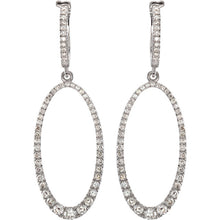 Load image into Gallery viewer, Fashion Forward  1 1/4 CTW  Diamond Oval Silhouette Earrings by Parker Edmond - ParkerEdmond