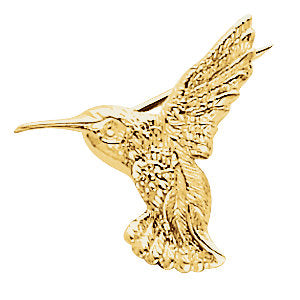 Delicate Hummingbird Brooch available in Gold or Platinum - ParkerEdmond