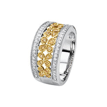 Load image into Gallery viewer, Gorgeous 3/8 CTW Yellow & White Diamond Floral-Inspired Ring by Parker Edmond - ParkerEdmond