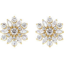 Load image into Gallery viewer, Fashion Forward -  14K White, Rose, Yellow or Platinum - 1 CTW Diamond Earrings by Parker Edmond - ParkerEdmond