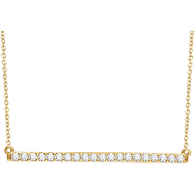 Designer Diamond Bar Necklace by Parker Edmond - ParkerEdmond
