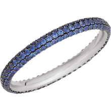 Load image into Gallery viewer, Stunning Sapphire Pave Eternity Band by Parker Edmond - ParkerEdmond
