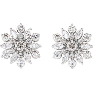 Fashion Forward -  14K White, Rose, Yellow or Platinum - 1 CTW Diamond Earrings by Parker Edmond - ParkerEdmond