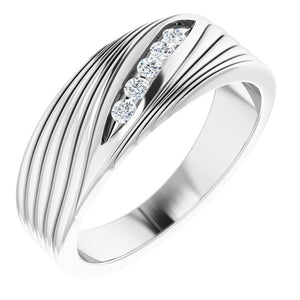 Sterling Silver 1/6 CTW Diamond Men's Ring