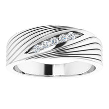 Load image into Gallery viewer, Sterling Silver 1/6 CTW Diamond Men's Ring