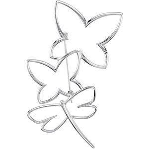 Designed with minimalist in mind.  Simple Clean Lines creating a Sterling Silver Butterfly - ParkerEdmond