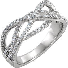 Load image into Gallery viewer, Let it Sparkle Designer 14K White Diamond Criss-Cross 1/2 CTW   Ring by Parker Edmond - ParkerEdmond