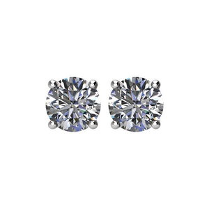 High Quality Platinum Diamond Stud Earrings Selections (1/3 CTW - 2 CTW) by Parker Edmond - ParkerEdmond
