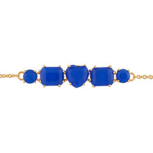 Load image into Gallery viewer, Les Néréides-LA DIAMANTINE 1 BLUE HEART STONE THIN BRACELET by Parker Edmond - ParkerEdmond