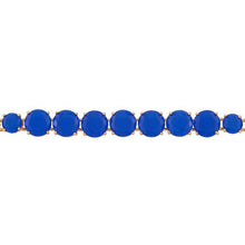 Load image into Gallery viewer, Les Néréides-LA DIAMANTINE LUXURIOUS BLUE STONES THIN BRACELET by Parker Edmond - ParkerEdmond