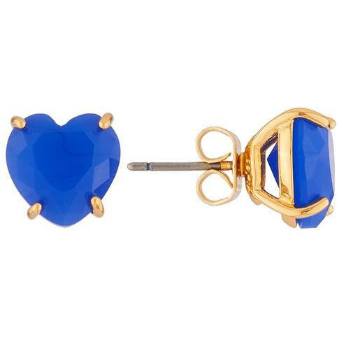 Les Néréides-LA DIAMANTINE BLUE HEART STONE DORMEUSE EARRINGS BY PARKER EDMOND - ParkerEdmond