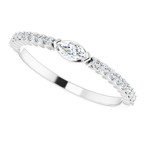 Stack Them Up!  1/4 CTW Diamond Stackable Ring
