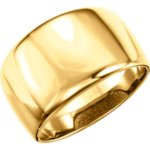 Elegant 14K Gold Dome Ring by Parker Edmond - ParkerEdmond