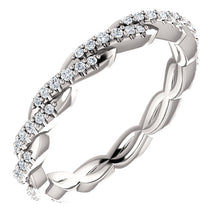 Load image into Gallery viewer, Timeless 1/4 CTW PLATINUM Twisted Diamond Infinity Band by Parker Edmond - ParkerEdmond