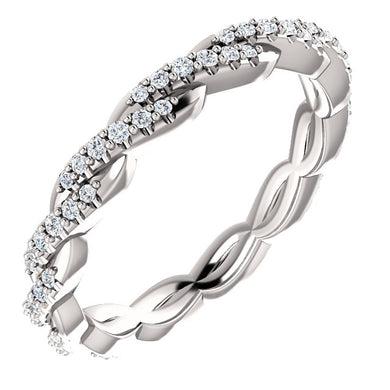 Timeless 1/4 CTW PLATINUM Twisted Diamond Infinity Band by Parker Edmond - ParkerEdmond