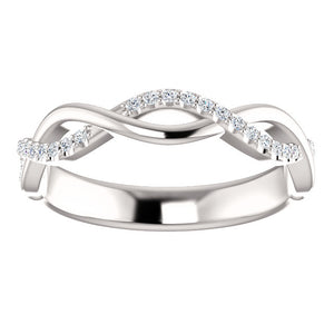 Twisted Infinity Inspired Band with 1/6 CTW Diamonds by Parker Edmond - ParkerEdmond