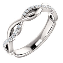 Load image into Gallery viewer, Twisted Infinity Inspired Band with 1/6 CTW Diamonds by Parker Edmond - ParkerEdmond