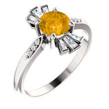 Load image into Gallery viewer, Exquisite Citrine & 1/6 CTW Diamond Ring by Parker Edmond - ParkerEdmond
